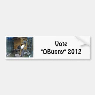 "The ""OBunny"" Camp Car Bumper Sticker"