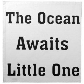 The Ocean Awaits Little One Napkin