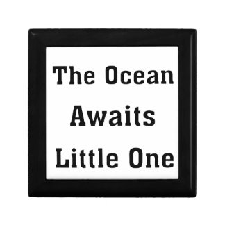 The Ocean Awaits Little One Small Square Gift Box