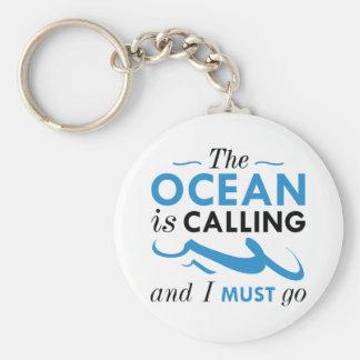 The Ocean Is Calling Key Ring