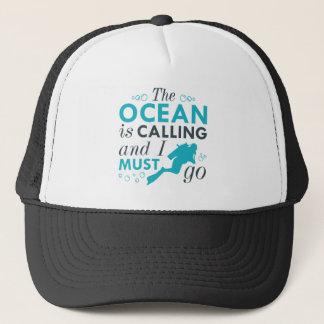 The Ocean Is Calling Trucker Hat