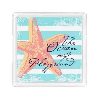 The Ocean is my Playground Acrylic Tray
