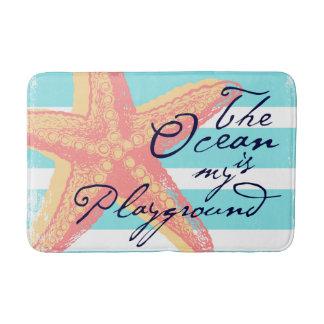 The Ocean is my Playground Bath Mat