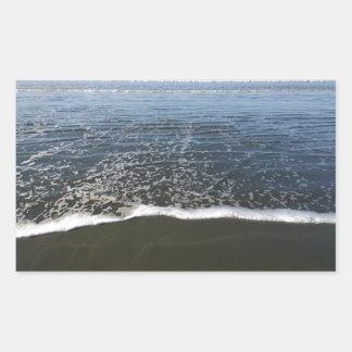 The Ocean Tide Washing Ashore Rectangular Sticker