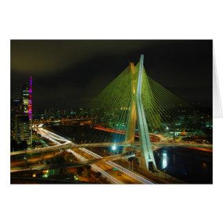 The Octavio Frias de Oliveira bridge Sao Paulo Card