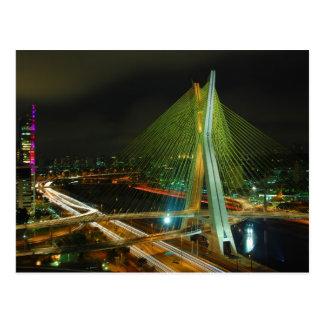 The Octavio Frias de Oliveira Bridge Sao Paulo Postcard