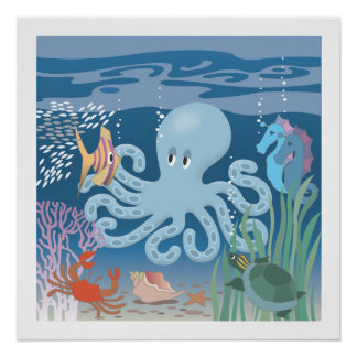 The Octopus Poster 20x20