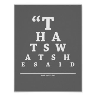 The Office, Eye Exam Chart