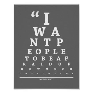 The Office, Eye Exam Chart Poster