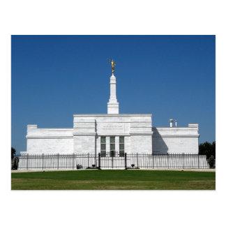 The Oklahoma City Oklahoma LDS Temple Postcard
