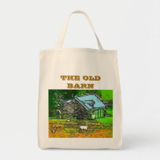 THE OLD BARN GROCERY TOTE BAG