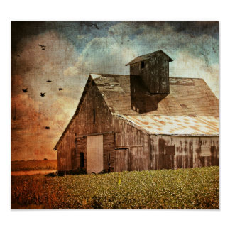 The Old Barn Poster