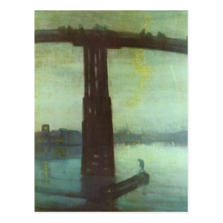 The old Battersea bridge by Whistler Postcard