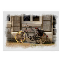 The Old Bicycle 1 Print