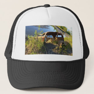 The Old Cars of Eklutna Tailrace Trucker Hat