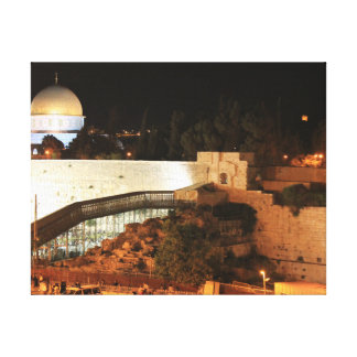 The old city view of Jerusalem Canvas Print