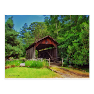 The Old Covered Bridge Postcard