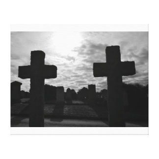 The old crosses canvas prints