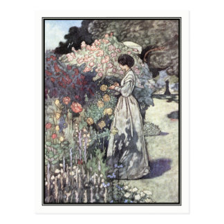 The Old-Fashioned Garden by Charles Robinson Postcard