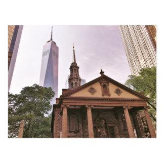 The Old Guard. Historic St Paul's Chapel. Postcard