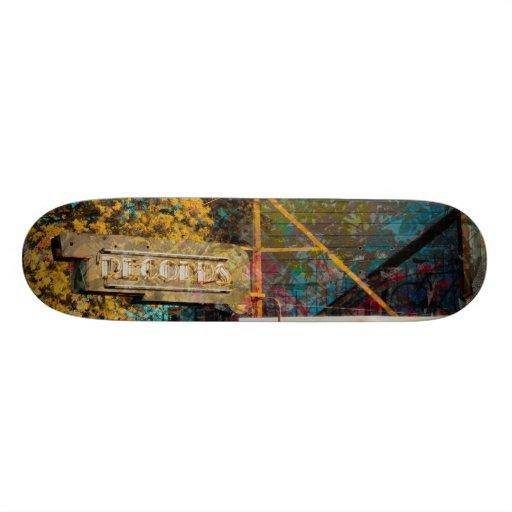 The Old Lexington Records' corner in SanFrancisco Custom Skate Board