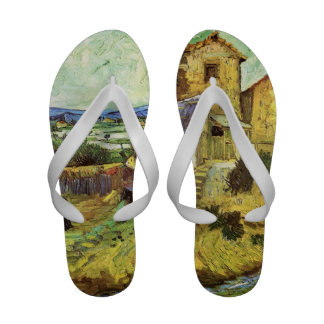 The Old Mill by Vincent van Gogh. Flip Flops