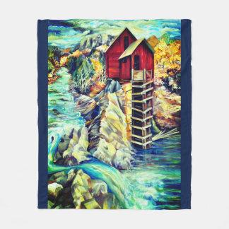 The Old Mill Crystal in Colorado Fleece Blanket