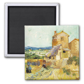 The Old Mill - Vincent Van Gogh Square Magnet