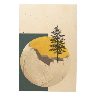 The Old Moon Wood Print