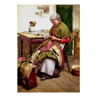 The Old Quilt - Walter Langley Poster