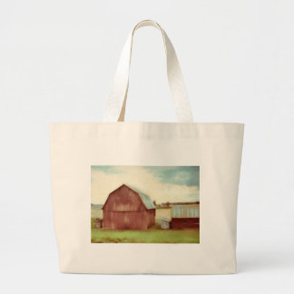 The Old Red Barn Large Tote Bag