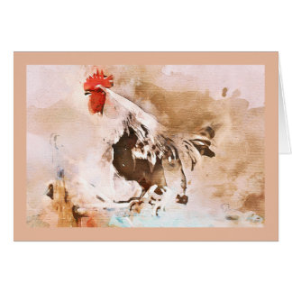 the old red rooster! card