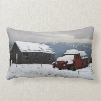The Old Red Truck Lumbar Cushion