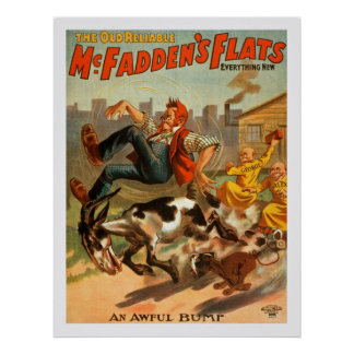 The Old Reliable McFadden's Flats, Vintage Poster