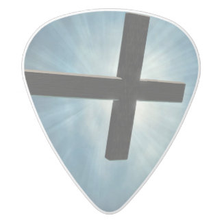 The old rugged cross guitar pick
