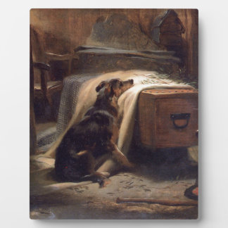 The Old Shepherd's Chief Mourner by Edwin Henry Photo Plaque