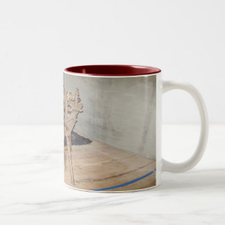 The Old Spinning Wheel Two-Tone Coffee Mug