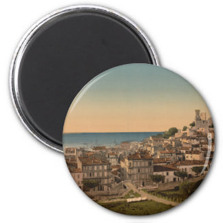 The Old Town, Cannes, France 6 Cm Round Magnet