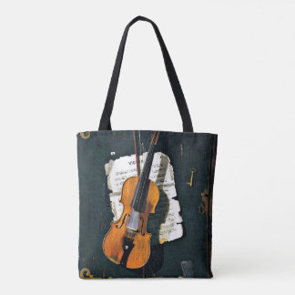 The Old Violin, fine art painting Tote Bag