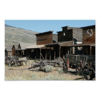 The Old Western Village Poster
