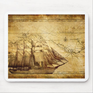 The Oldest World Map Ship Mouse Pad