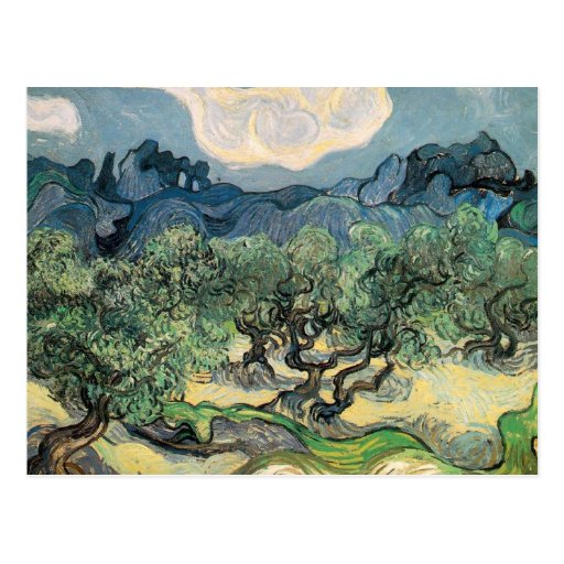 the olive trees,1889, Vincent van Gogh Post Cards