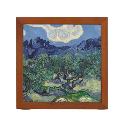 The Olive Trees by Vincent Van Gogh Desk Organizer