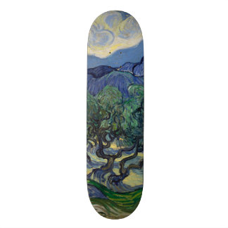 The Olive Trees by Vincent Van Gogh Skateboard Deck
