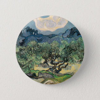 The Olive Trees, Vincent van Gogh 6 Cm Round Badge