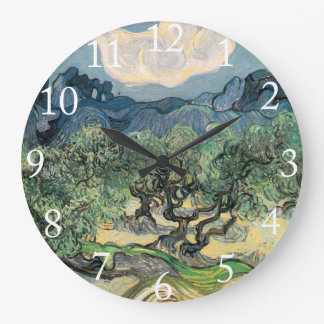 The Olive Trees Vincent van Gogh Round Wall Clocks