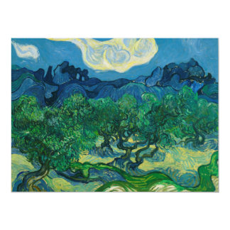 The Olive Trees with Alpilles Vincent van Gogh Card