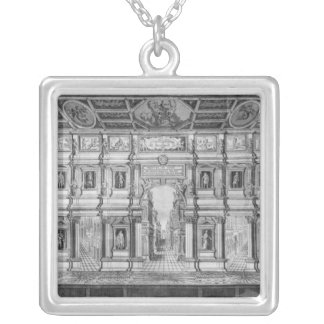 The Olympic Theatre at Vicenza Silver Plated Necklace
