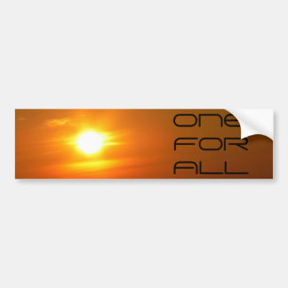 The One for All Bumper Sticker
