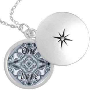 The One Love Silver Silk Mandala Locket